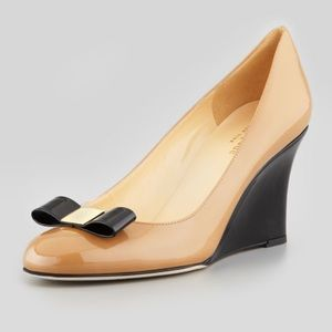 Kate Spade Patent Bow Wedge Pump
